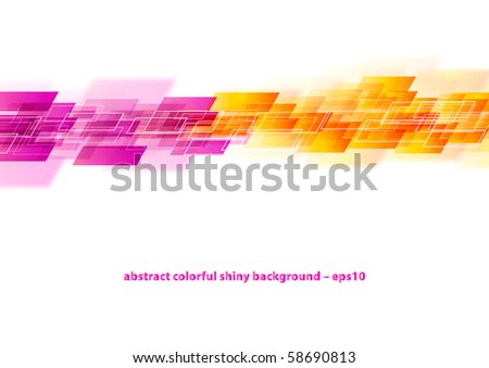 Abstract colorful background elements (eps10) - stock vector
