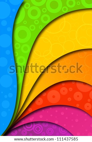 Abstract colorful background for design. Vector illustration - stock vector