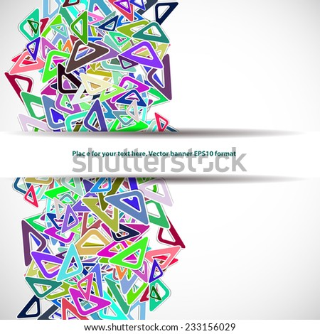 abstract colorful background for your text with triangles - stock vector
