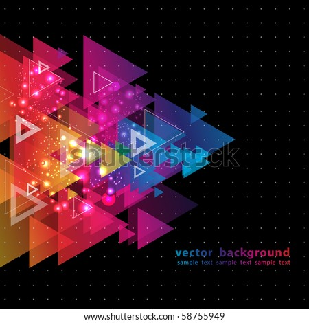 Abstract Colorful Background from triangles. Vector. - stock vector