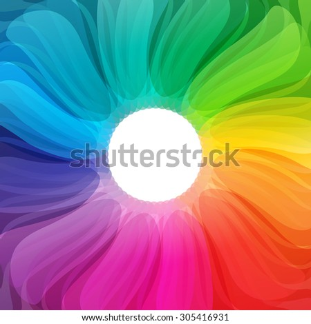 Abstract colorful background illustration with vibrant color tones - stock vector