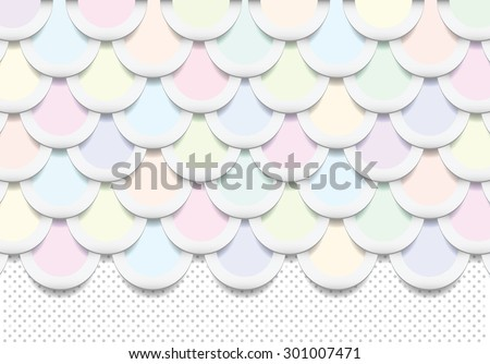 Abstract colorful background, semi rings with drop shadows - stock vector