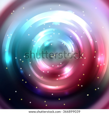 Abstract colorful background, Shining circle tunnel. Elegant modern geometric wallpaper.   Vector  illustration. Red, black, blue colors.  - stock vector