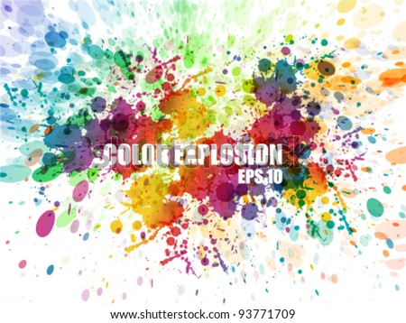 Abstract colorful background. Splash watercolor background illustration - stock vector