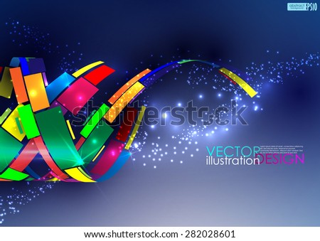 Abstract colorful background. Vector illustration. Eps 10 - stock vector