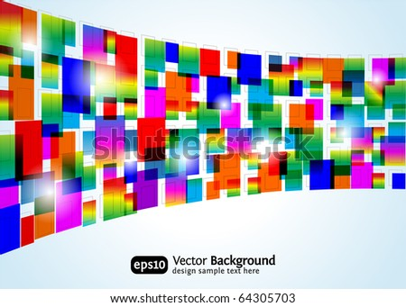 Abstract colorful background. Vector rectangle design. Business concept. - stock vector