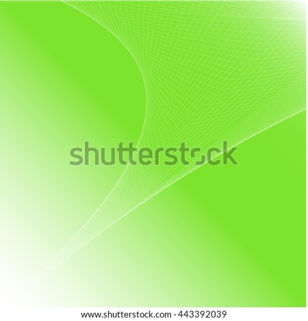 Abstract colorful background wave green