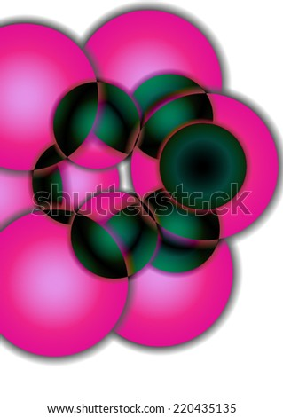 Abstract colorful background with circles