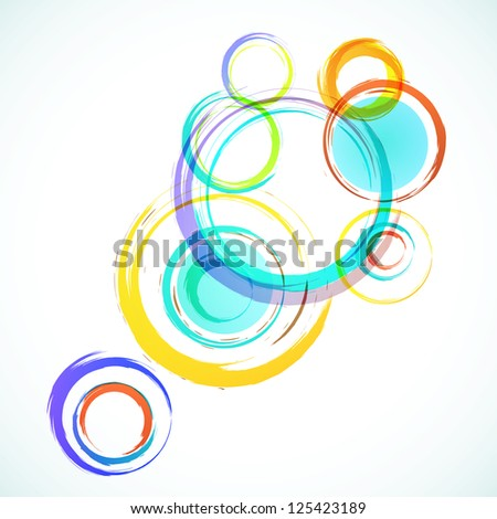 Abstract colorful background with grunge circles. Vector. - stock vector