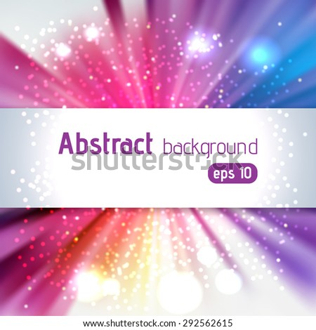 abstract colorful background with place for text - stock vector