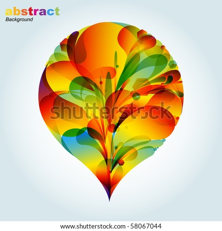 Abstract colorful background with place for your text - stock vector