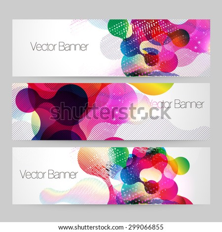 Abstract colorful banner design vector template - stock vector