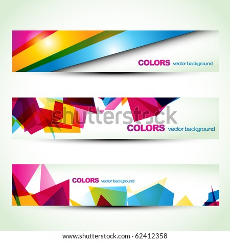 abstract colorful banner set designs. Eps10 vector - stock vector