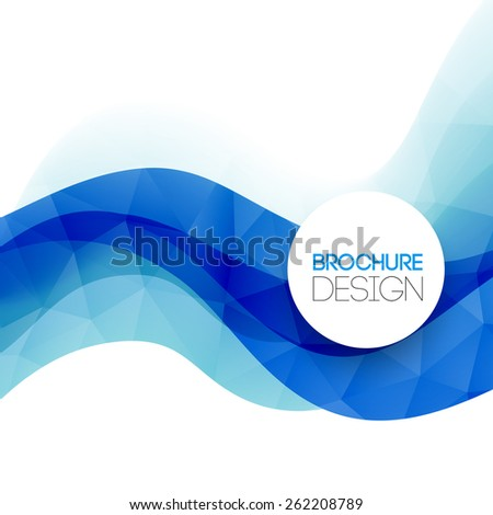 Abstract colorful blue vector template background.