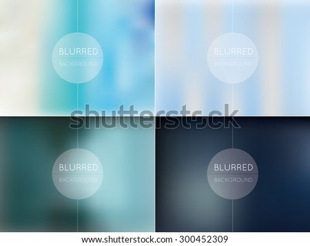 Abstract colorful blurred backgrounds in vector format for design - stock vector