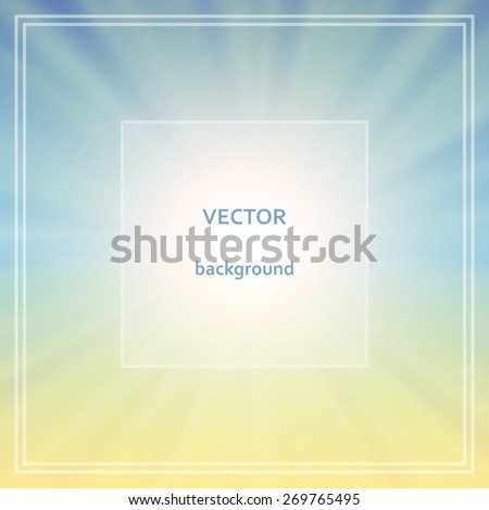 Abstract colorful blurred vector background.  Elements for your website or presentation. - stock vector
