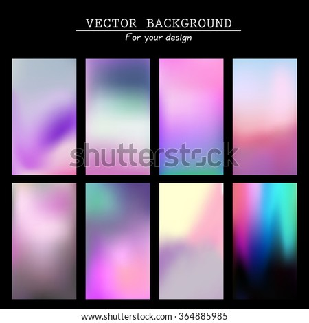 Abstract colorful blurred vector backgrounds. Vector timeline template. Elements for your website or presentation. Application - stock vector
