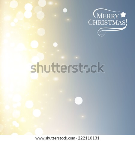 Abstract colorful bokeh background. Christmas lights. Vector illustration  - stock vector