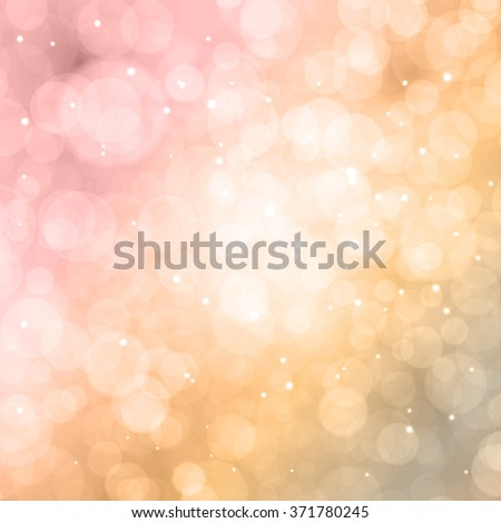 Abstract colorful bokeh. Festive background. Defocused lightsVector circles illustration. - stock vector