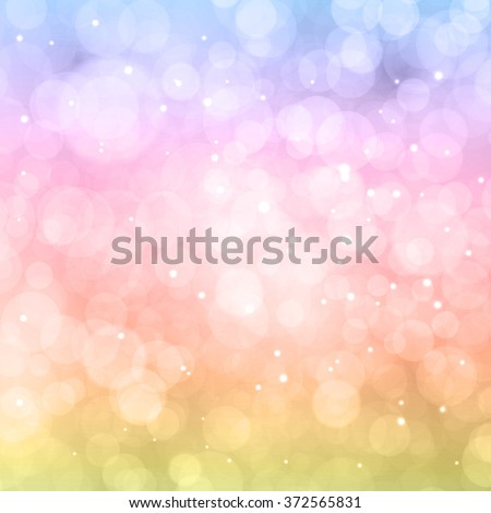 Abstract colorful bokeh. Festive background. Defocused lights