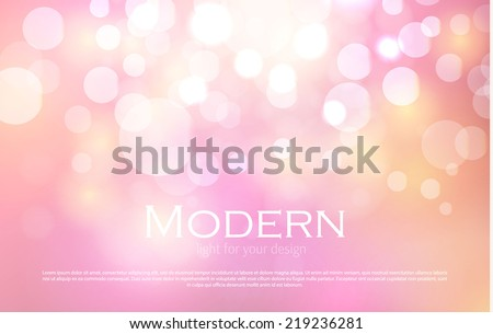 Abstract colorful bokeh light background. Vector illustration - stock vector