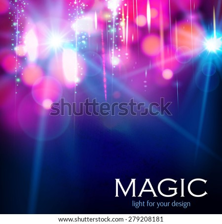 Abstract colorful bokeh & light background.  Vector illustration - stock vector