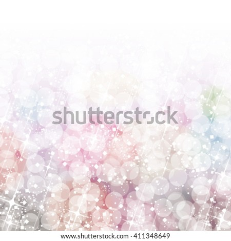 Abstract colorful bokeh lights background. Vector illustration. - stock vector