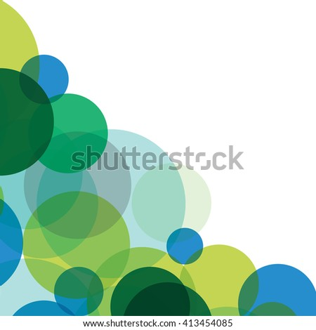 abstract colorful bright circls on the white background