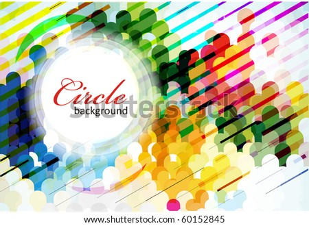 Abstract colorful circle background. Vector illustration. - stock vector