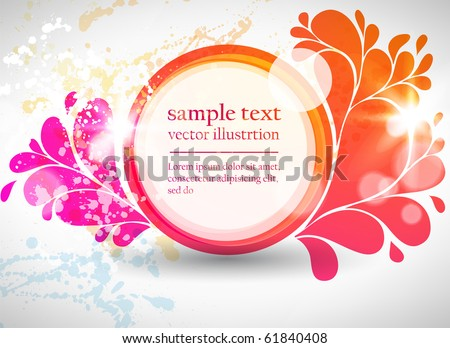 Abstract colorful circle background. Vector illustration.