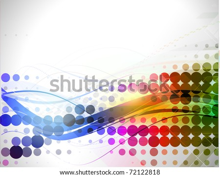 abstract colorful circle background, vector illustration - stock vector