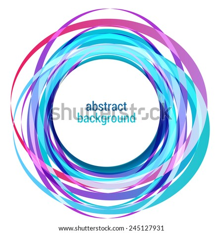 Abstract colorful circle. Banner Design Element. Vector illustration.  - stock vector