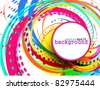 Abstract colorful circle banner for your text. Vector design. - stock photo