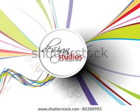 Abstract colorful circle banner for your text. Vector design. - stock vector
