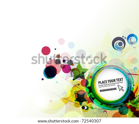 abstract colorful circle vector banner design illustration. - stock vector