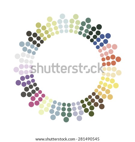 Abstract colorful circle. Vector design element. - stock vector