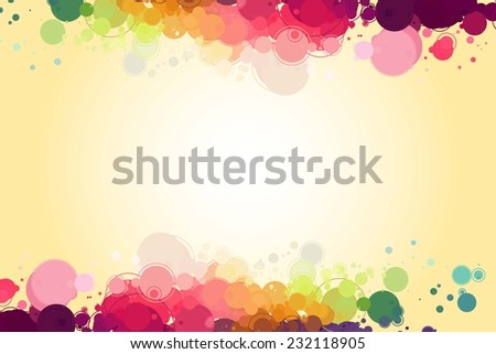 Abstract colorful circles background. colored circles on a light  background - stock vector