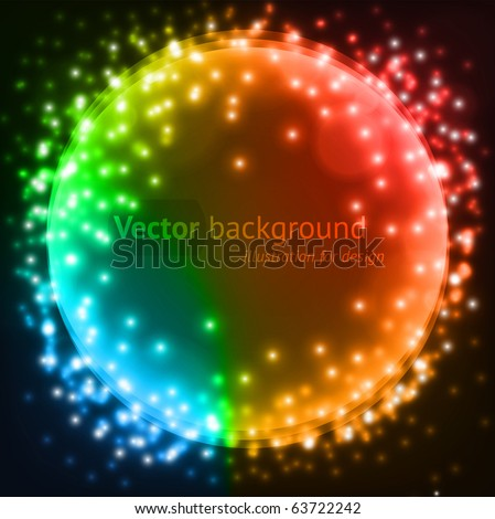 Abstract colorful circles vector background for design. eps 10 - stock vector