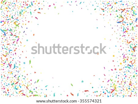 Abstract colorful confetti background. Isolated on the white. Vector ...