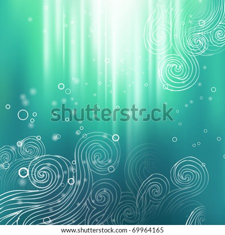 Abstract colorful creative vector background with hand draw elements - stock vector