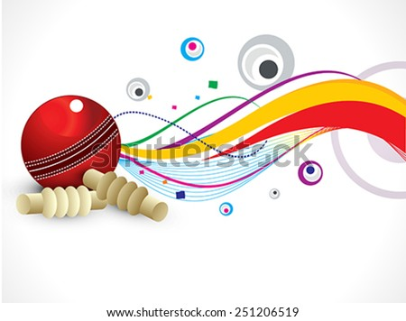 abstract colorful cricket background vector illustration - stock vector
