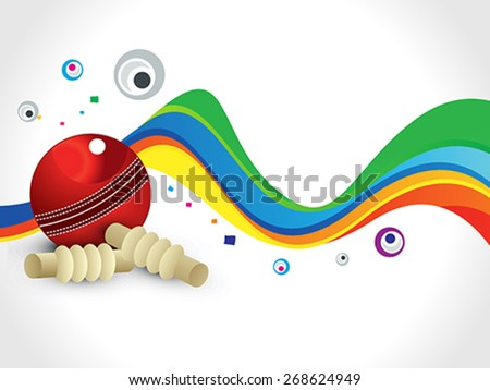 abstract colorful cricket wave background vector illustration - stock vector