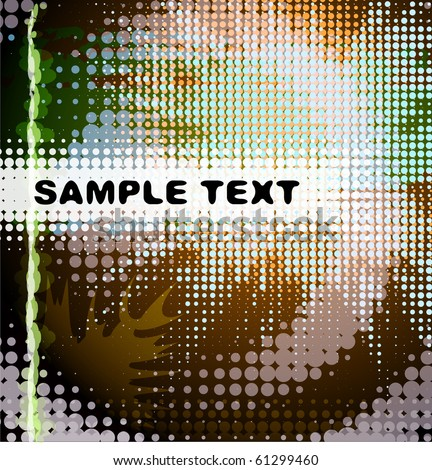 Abstract colorful design for text - stock vector