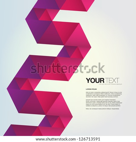Abstract colorful design vector with colorful triangles ribbon background - stock vector