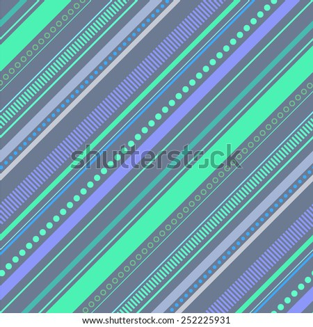 Abstract colorful diagonal striped background. Vector seamless pattern