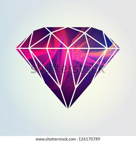 Abstract colorful diamond design vector - stock vector