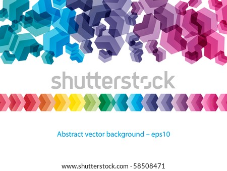 Abstract colorful digital background design (eps10) - stock vector