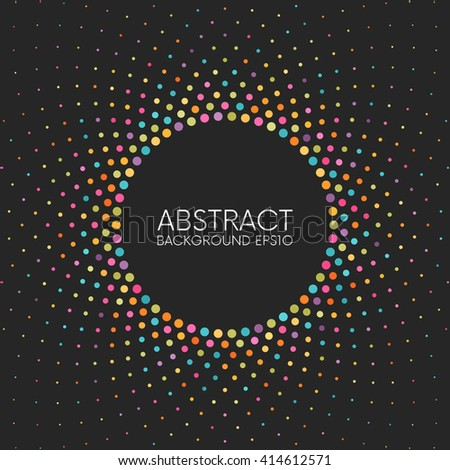 Abstract colorful dotted background. Easy to change colors. - stock vector