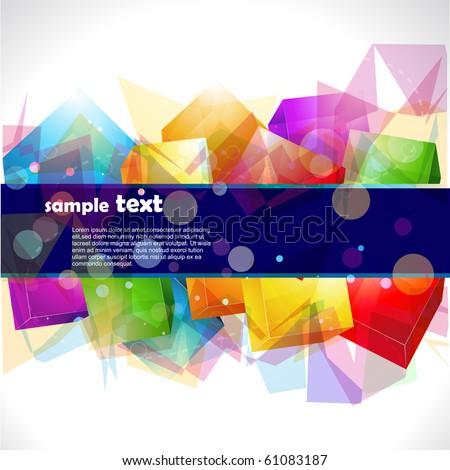 abstract colorful eps10 vector design artwork - stock vector