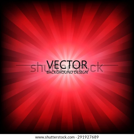 Abstract colorful explosion design, Blood red shade, Modern disco lights background. - stock vector